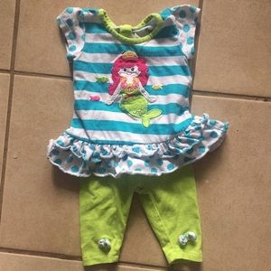 Nanette Mermaid Matching Set Size 12 Months